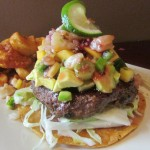 Tropical Shrimp Ceviche Burger